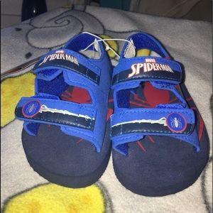 NWT Cute Spider man sandals SZ: S